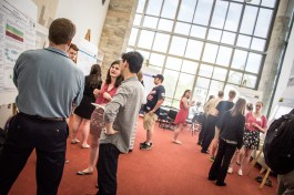Poster session in Regents Hall