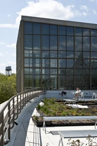 """Regents Hall's rooftop garden is one of the features noted in a new book highlighting """"the world's greenest buildings."""""""