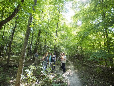 St. Olaf students work in the Natural Lands.