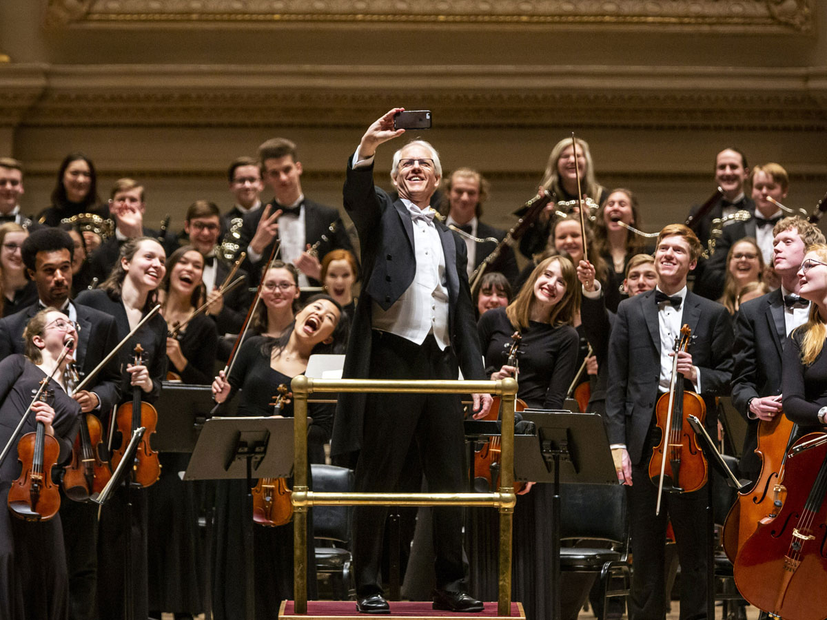 St. Olaf Orchestra on stage at Carnegie Hall
