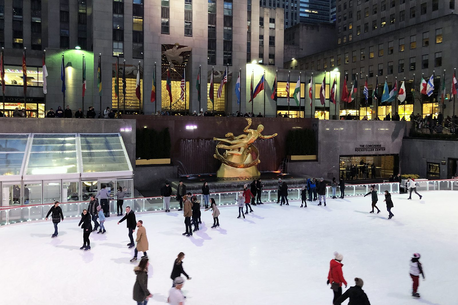 Landry Forrest '22 took in the Rockefeller Center Ice Rink during a break in New York City.
