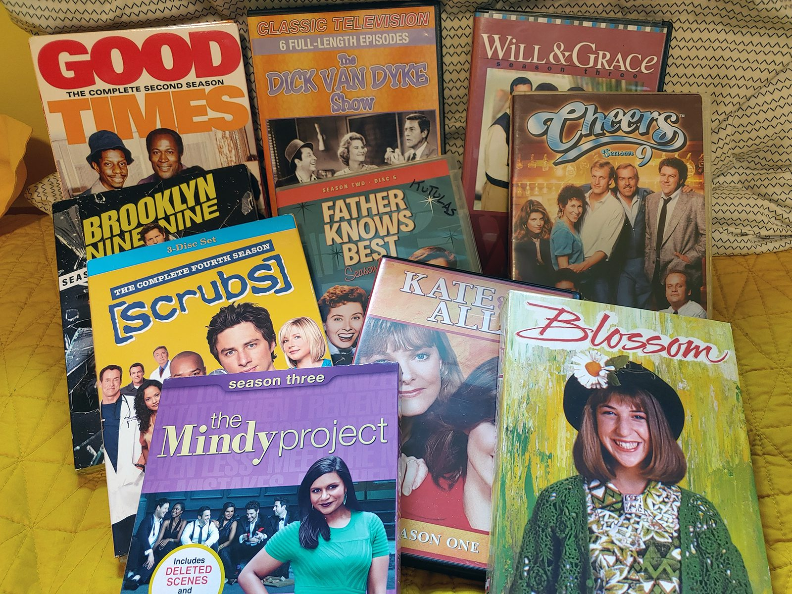Some of the shows Professor of History Judy Kutulas has in her collection.