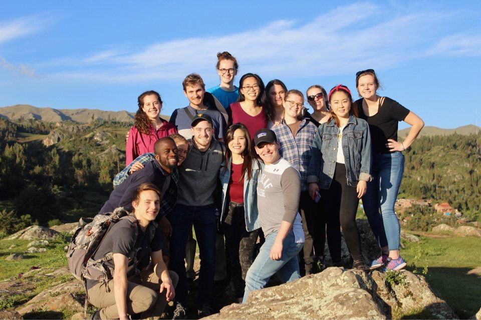 St. Olaf College students on the Peruvian Medical Experience program during January 2020. Photo courtesy of Alexandra Wolner '21
