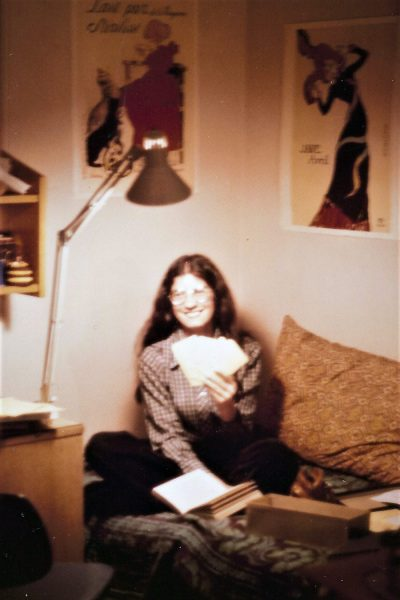 Professor of History Judy Kutulas as a young writer.