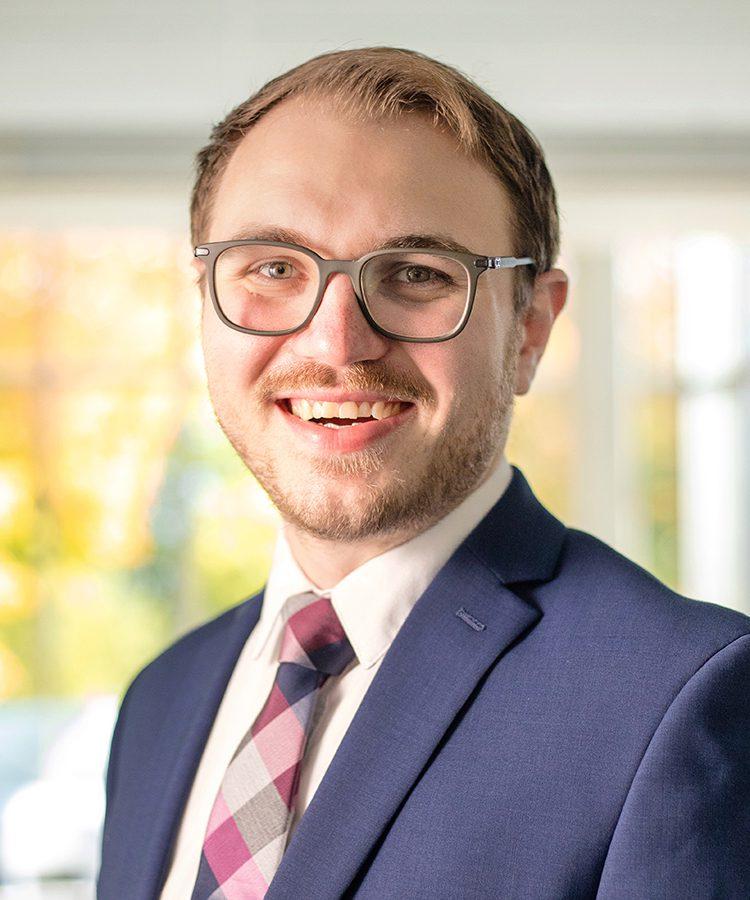 Portrait of Associate Director of Student Activities Brandon Cash '16