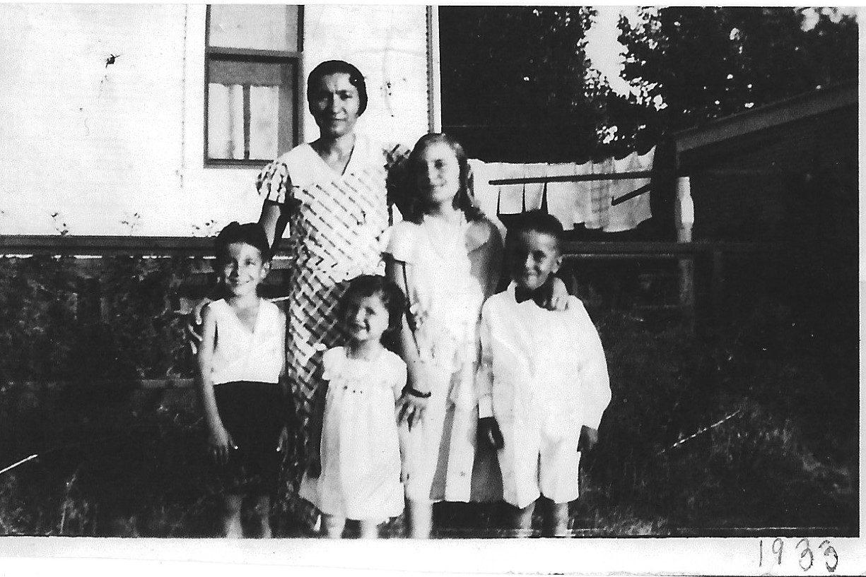 The grandmother of Professor of History Judy Kutulas poses for a photo with her children and niece in 1933.