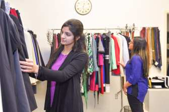 students browse the wardrobe's offerings