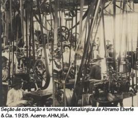 Seção de cortação e tornos da Metalúrgia de Abramo Eberle & Cia. 1925.