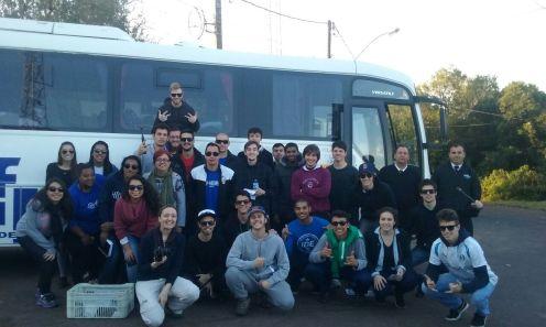 Viagem do Curso de Engenharia Hídrica (CDTec) para participação de aula prática em Monte Bonito, Caxias do Sul e Osório/RS.