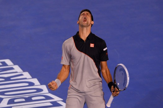 Novak Djokovic went into the fifth set with a roar, then ...