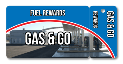 Gas Station Fuel Rewards Loyalty Combo Card