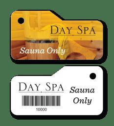 sauna access key tag for spa and salon