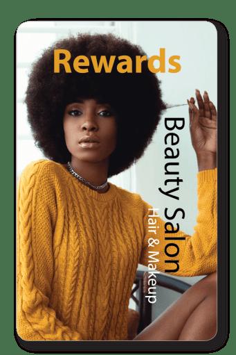 reward card for beauty salon