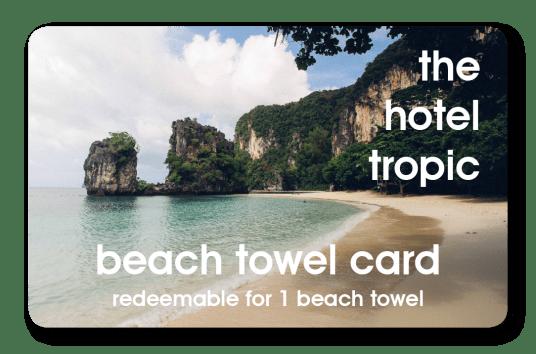 hospitality hotel towel card