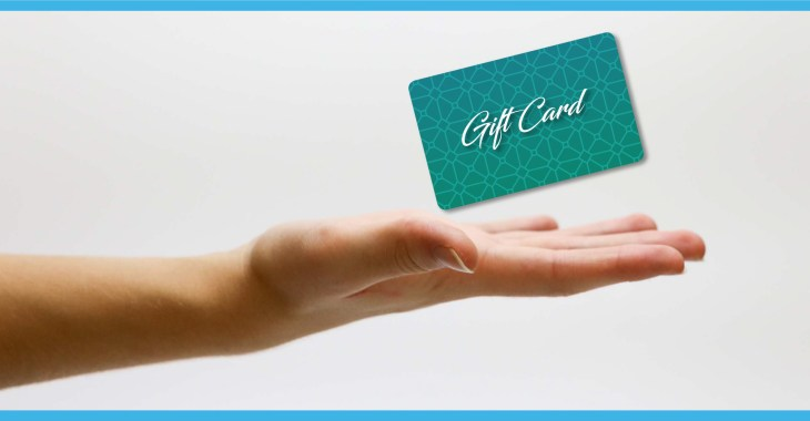 advantages of gift cards hand reaching