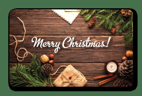 Christmas Gift Pine Card