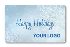 Holiday Gift Snowflake Card with Custom Logo