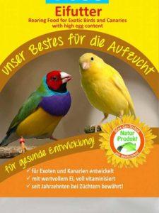 Eifutter ist zur Jungvogelaufucht NICHT geeignet, © Anke Dornbach