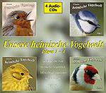 Cover der vierteiligen CD-Reihe 'Heimische Vogelwelt'
