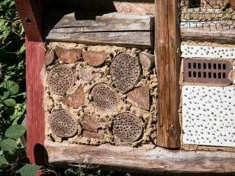 Insektenhotels mit unterschiedlichen Materialien bieten vielen verschiedenen Arten einen Unterschlupf, © Didgeman / Pixabay