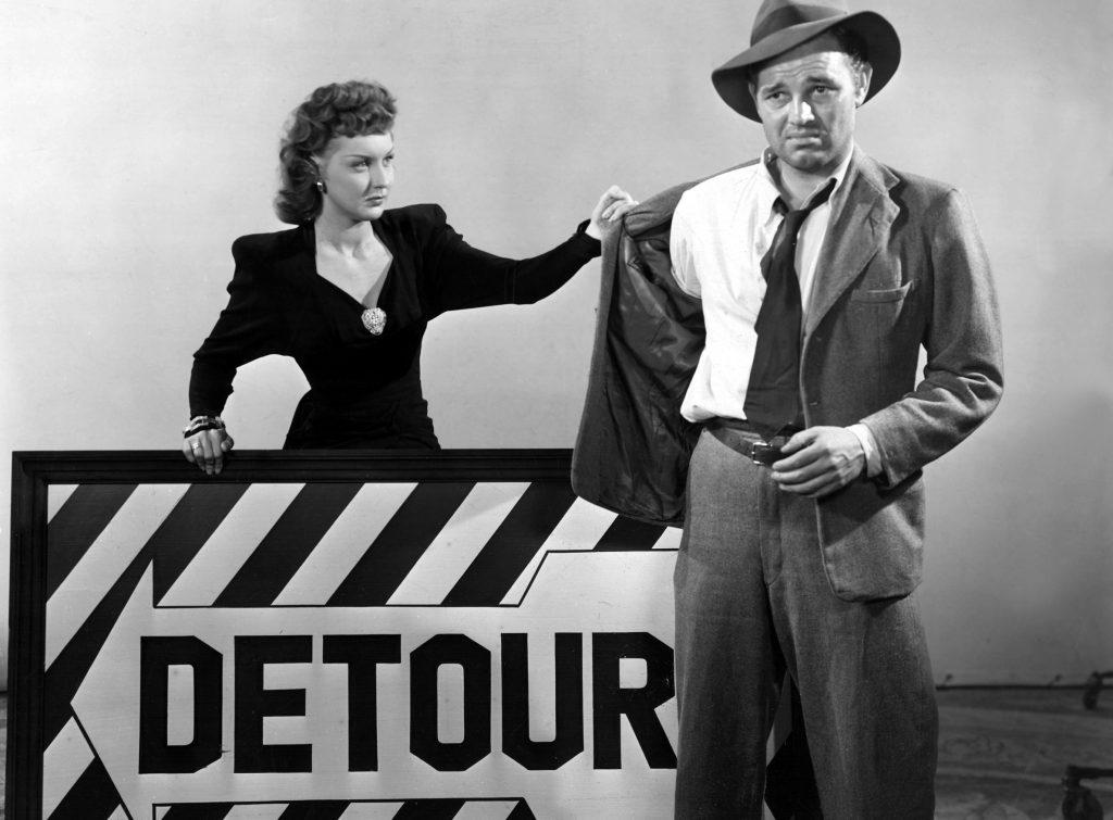 DETOUR, Ann Savage, Tom Neal, 1945