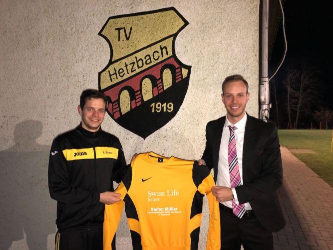 Neue Pullover für TV Hetzbach Abteilung Fußball