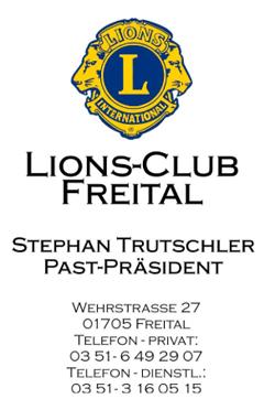 Lions Club Freital übergibt 500-Euro-Scheck an Spielbühne - Spielbühne Freital e.V. erhält Unterstützung bei Erneuerung der Bühnentechnik