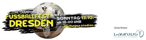 Laureus Benefizspiel in Dresden erlöst 100.000 Euro für Jugendprojekt - Team Dresden setzt sich erst im Elfmeterschießen durch