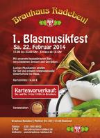 Veranstaltungshinweis: 1. Blasmusikfest im Brauhaus Radebeul