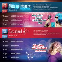 Veranstaltungshinweis: Mitternachtsparty im MEGA-DROME Tanzcafe Radebeul