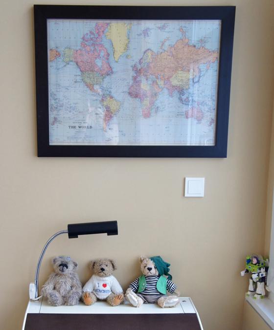 Real Kids Room Berlin Loft world map