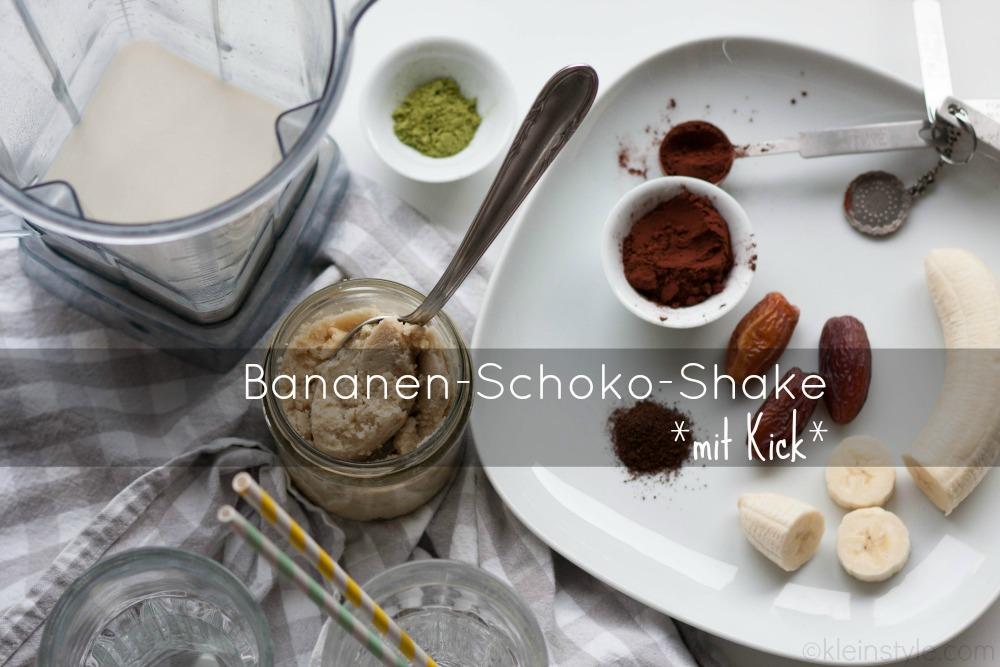 pflanzlich vegan bananen SCHOKO SHAKE pic ©kleinstyle