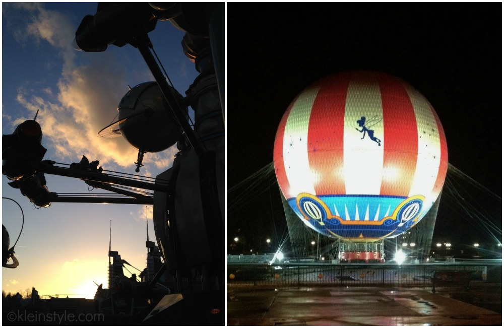 Disneyland Paris night is falling orbitron balloon pic ©kleinstyle.com