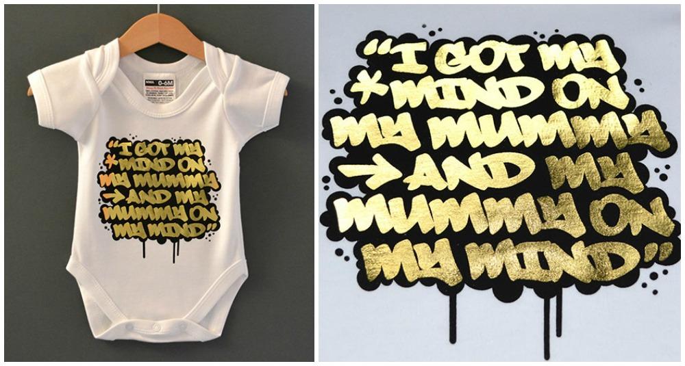 Nippaz with attitude baby onesie mummy-on-my-mind-babygrow