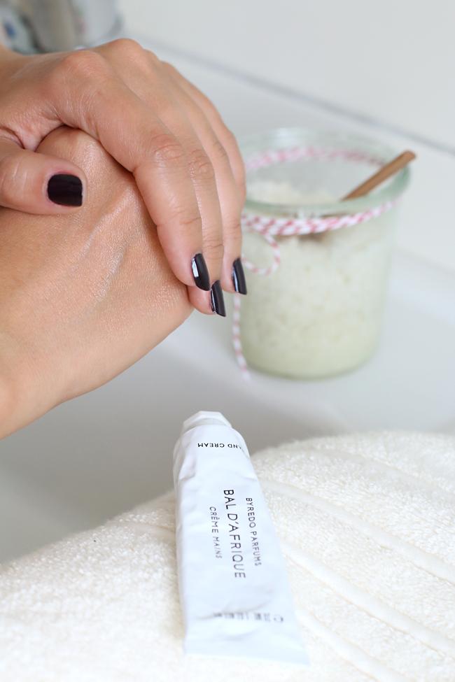 Handpeeling selber machen, Handpeeling mit Salz, DIY Handpeeling, Rezept Handpeeling