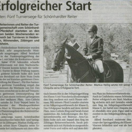 Gmuender Tagespost vom 18. Juni 2010