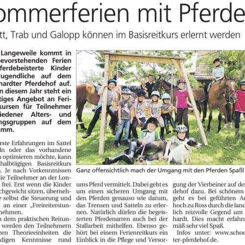 Gmuender Tagespost vom 23.07.2011