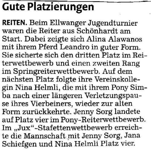 Rems-Zeitung vom 02.05.2009