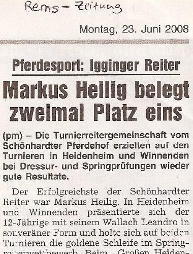 Rems-Zeitung vom 23.06.2008