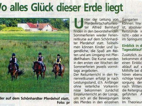 Rems-Zeitung vom 23.07.2009