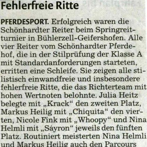 Rems-Zeitung vom 26.08.2009
