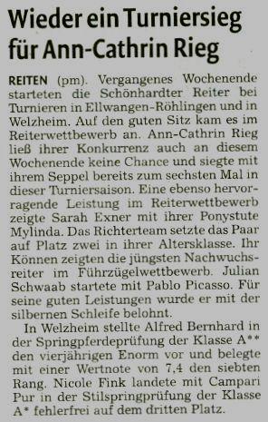 Remszeitung vom 14.07.2010