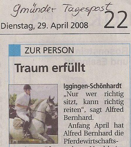 Tagespost vom 29.04.2008