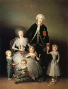 The Duke of Osuna and his family by Goya