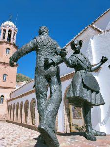 Statue celebrating the Cómpeta fandango