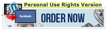 WordPress to Facebook Page order button image personal use rights