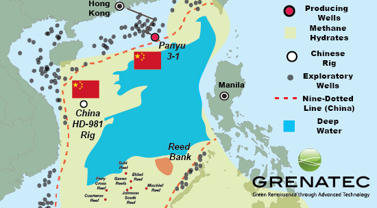 In addition to potentially large resources of oil and gas, the South China Sea's deeper waters also are believed rich in methane hydrates. Source: US EIA, Klaudia & Sandler, 2005