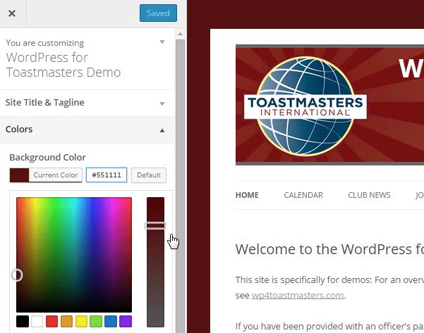 Customization: Background Color