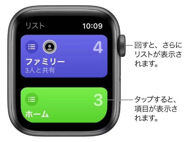 Apple Watchのリマインダー