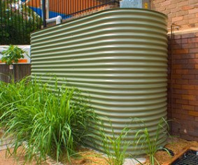 Water tanks need not be unattractive. This one is from Tankworks, Australia.